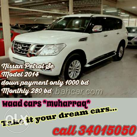 Nissan patrol se model 2014 for sale now. Installment available