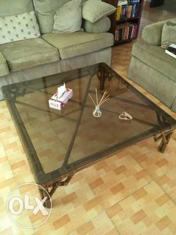 Big dining table and coffee table set