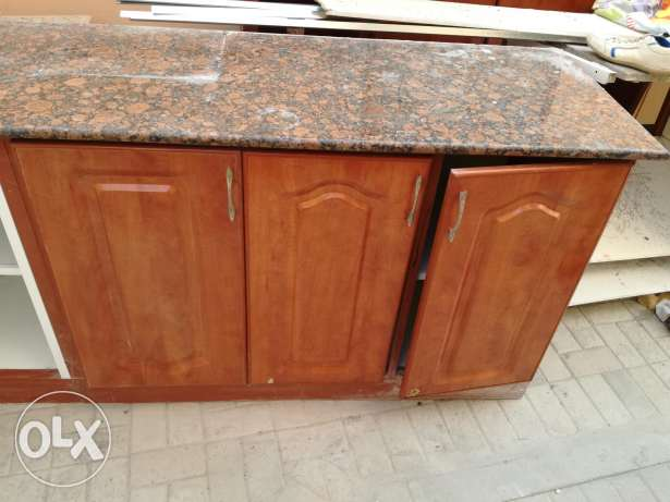 Kitchen cupboard with granite's
