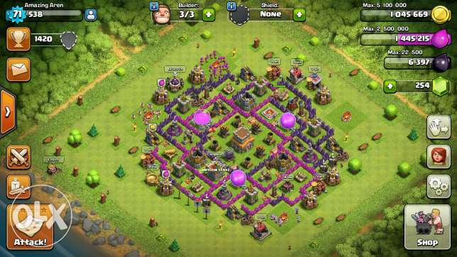 Clash of clans account th8