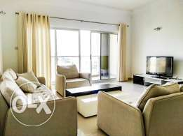 Sea View Beautiful Fully Furnished 2 BR Apartment
