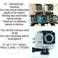 Action Camera BOOK now 25 B.D only