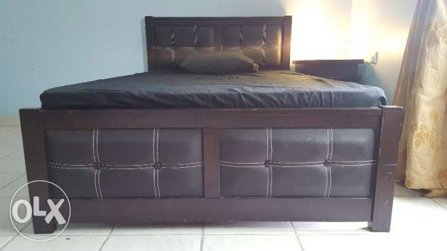Single Bed with Mattress and Side Table for Sale
