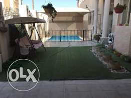 For rent fully furnished villa in Hidd with swimming pool + gym