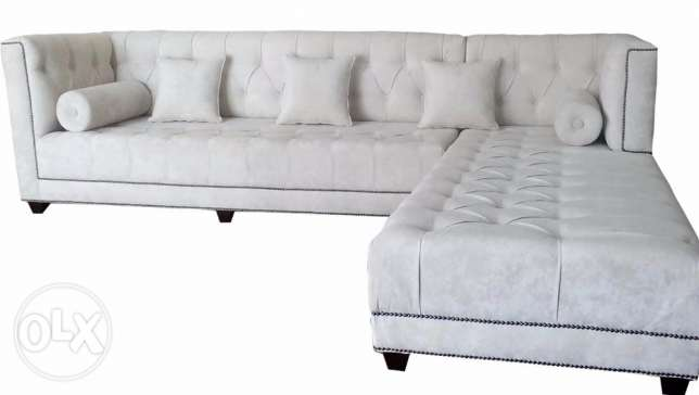 L Shape Sofa-Ivory -New Year Offer