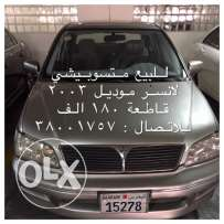 Mitsubishi Lancer for sale, 2003 model 180,000 km BD 900