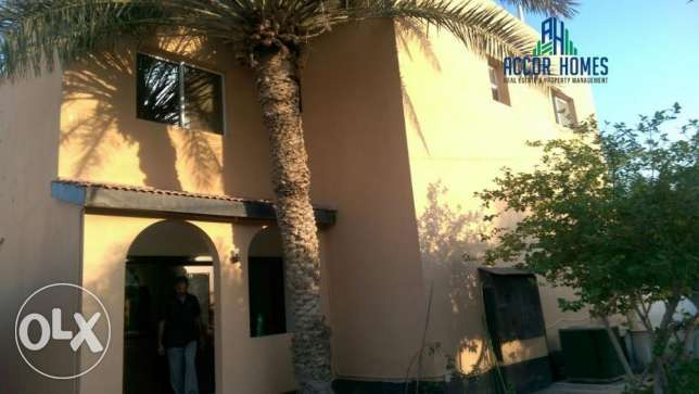 Spacious, semi furnished 3 BHK villa for rent in Sanad at BD 550/month