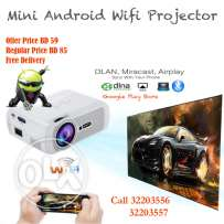 led projector android/ wifi / miracast / dlna/ bluetooth compatible