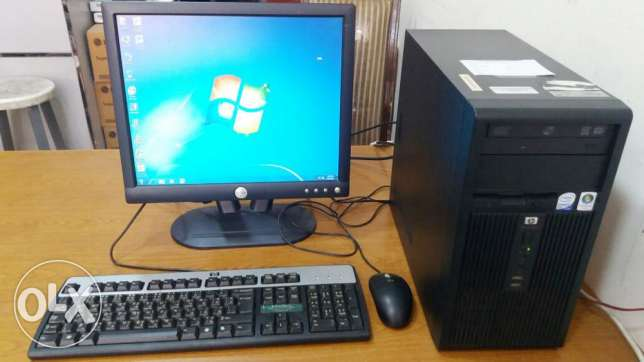 HP Computer Set Branded PC Core 2 Duo/ 17inch Dell LCD Monitor