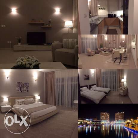 flat 2 bedroom for rent in amwaj seaview