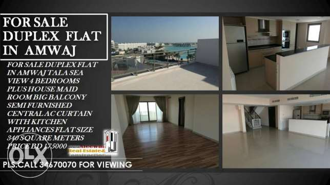 For sale duplex flat in Amwaj
