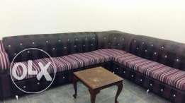 7 seater L shape sofa & king size double bed.