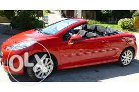 سبورت بيجوت ممتازة SPORT CABRIOLET PEUGEOT 207cc full options fully lo