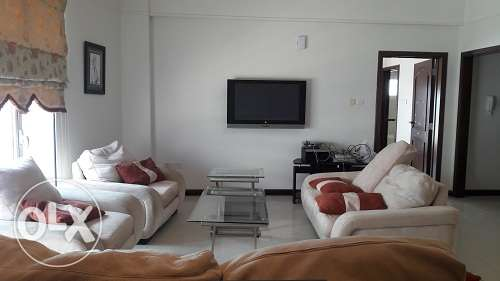 very spacious 2 Br fully furnish apmt for rent in Seef BD. 550/- Inc