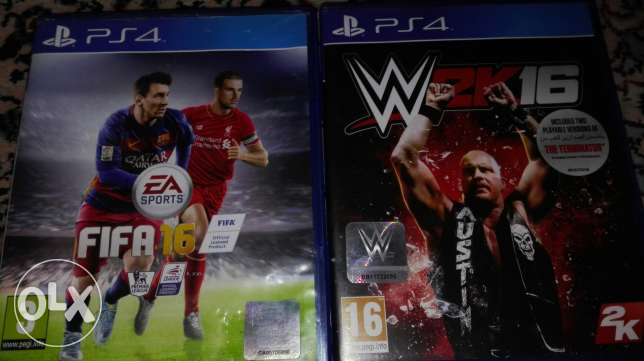 Fifa 16 and wwe 2k16
