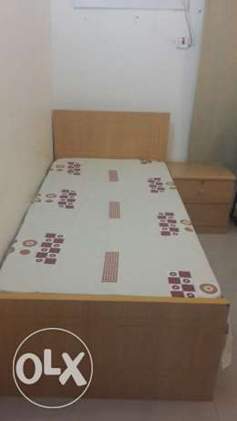 Single bed with metters sale