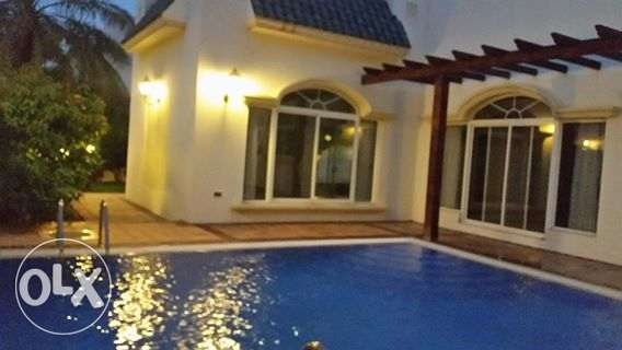 semi furnished villa with private pool close to ksa