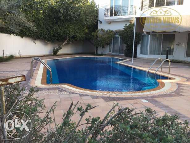 5 Bedroom semi furnished villa for rent with private pool,garden