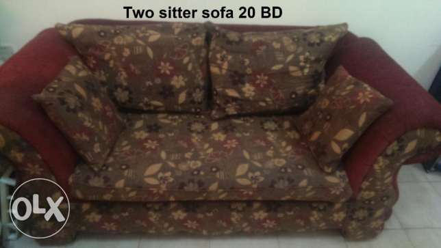 1. Wooden Sofa 2 seater 20 BHD