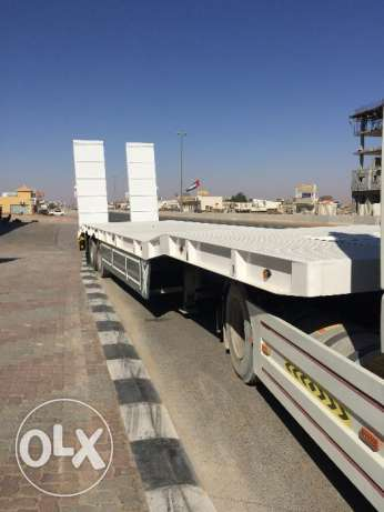 new low bed trailers saudi style with warranty of chassis and axle