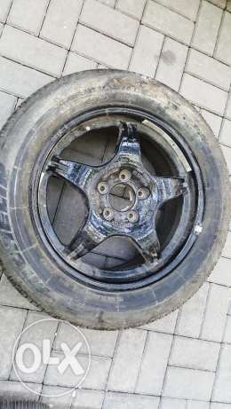 Mercedes spare tire with wheel rim