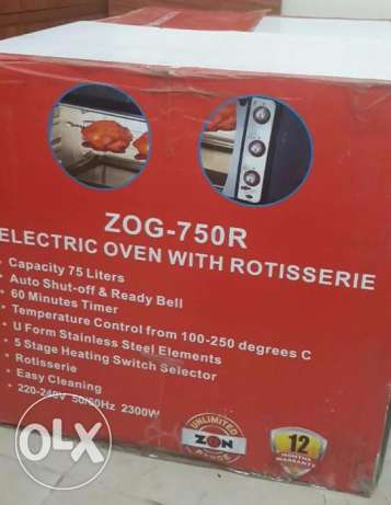 Electric Oven with Rotisserie