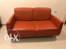 IKEA leather 2 seater for sale