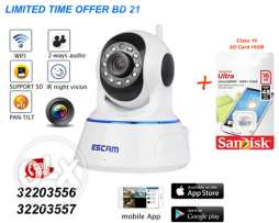 wireless ip camera, plug and play, rotate camera