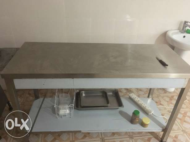 stainless still table