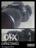Nikon D5200 clean use ..with zoom lens 70-300 ..for: 180 dinars to com