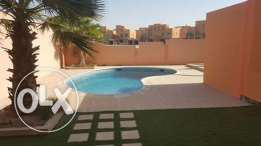 modern semi furnished villa with private pool near seef