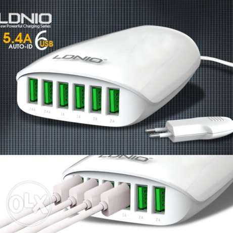 For sale 6 port USB charger for all Mobil and tablets