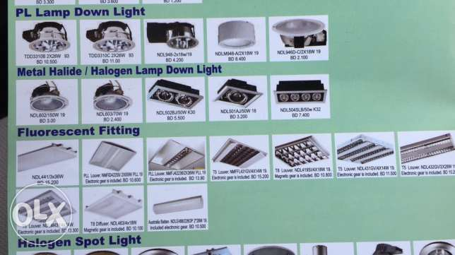 Great Chance with low prices for Lighting material