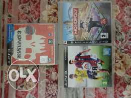 playstation3 ..gear and 3 original games gta4 resistance and monoply