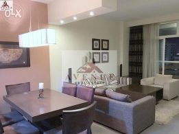 Juffair: Contemporary 2 BR Flat with balcony and free facilities