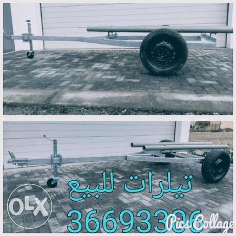 Small galvanized trailers for kayaks and small boats and jet ski