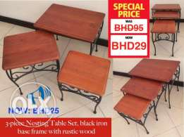 Further discount on 3-piece tables