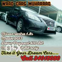 Nissan sentra model 2013 for sale. For installments also.