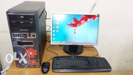 "INTEL CORE i5 COMPUTER full SET with 19"" wide LCD monitor"