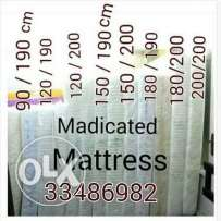 All sizes of MEDICATED MATTRESS available