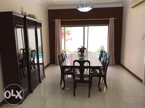 3BHK plus maid room villa for rent in Adliya unfurnished and furnished