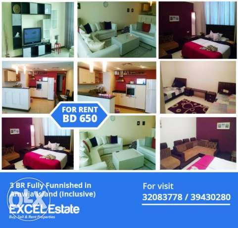 BEST OFFER 3 BR Fully Furnished only Six fifty BD