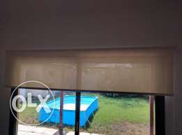 Cream Sunblock Roller Blinds