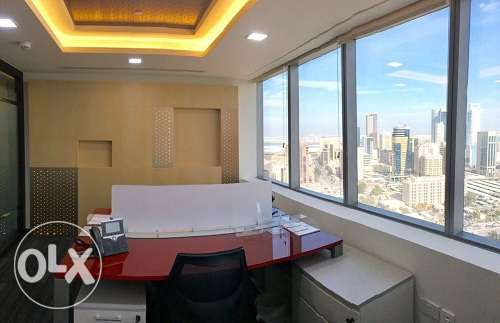 Full fitted office at BAH WORLD TRADE with stunning CityView BD.570 In