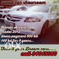 Honda accord full option 2012 model for sale now. For get loabs easily