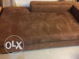 Suede Brown Sofa