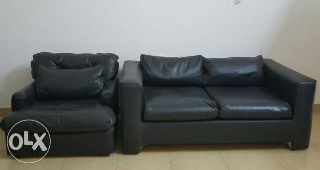 Leather Sofa Set 2+1 Excellent Condition