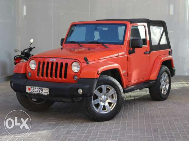 Jeep Wrangler Sahara 2015 Ornge For Sale