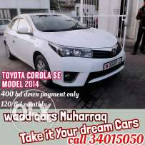 Toyota corolla 2014 model full option for sale installments availables
