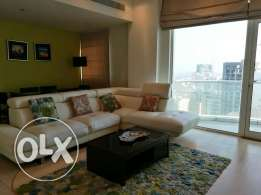 Executive 1 bedroom furnished apartment with balcony (high floor)